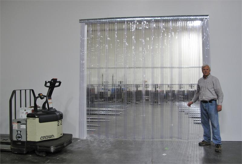 Installation Of A Ribbed Strip Curtain