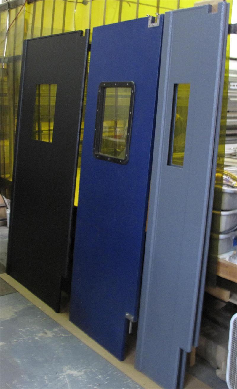 Restaurant Kitchen Door Hinges ruff tuff and pro tuff door colors - blue traffic door colors