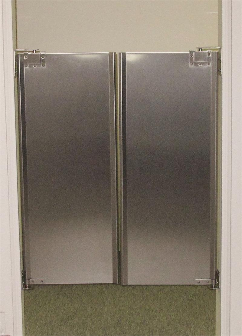 Stainless Steel Cafe Double Doors. & Stainless Steel Cafe Swing Doors - Half Size Restaurant Doors ...