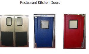 Restaurant Kitchen Swing Doors restaurant kitchen traffic doors in stock - stainless steel double