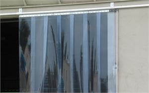 Strip curtain door