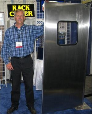 stainless steel door at the show