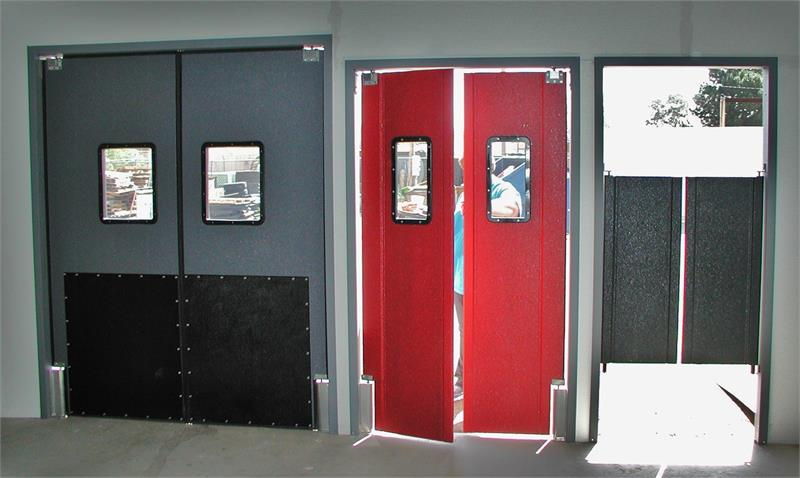 Restaurant Kitchen Swing Doors swinging traffic door frames in stock. pro tuff door and ruff tuff