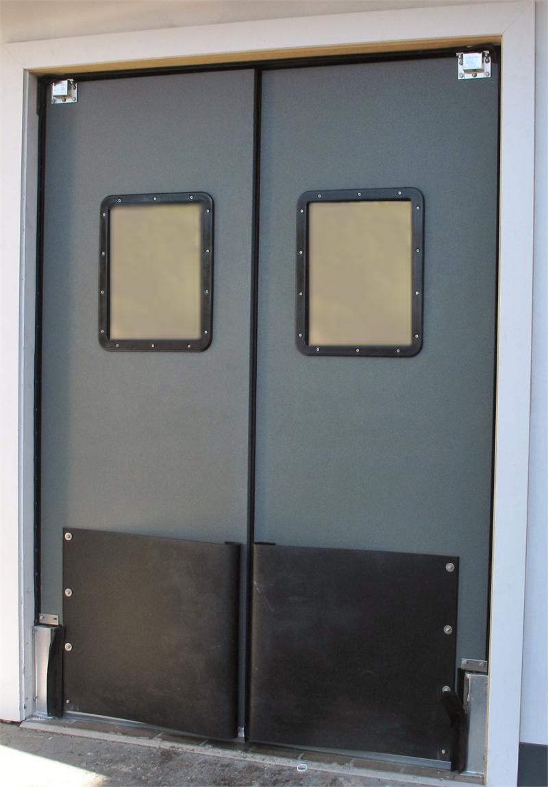 Traffic swinging doors 28 images supermarket traffic swing doors warehouse impact swinging - Commercial double swing doors ...