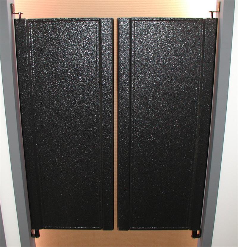 Half size swinging doors cafe doors swing door with 7 for Swinging kitchen doors residential