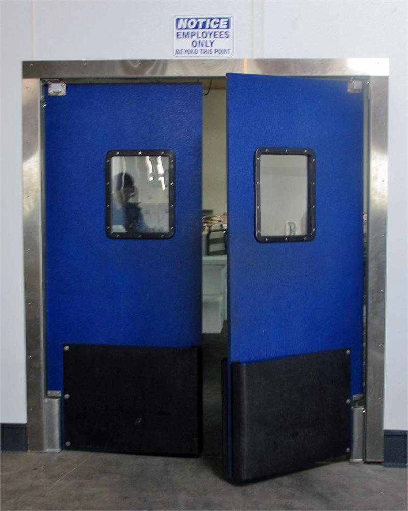 Traffic doors on sale grocery swing door with bumpers supermarket swing door impact traffic - Commercial double swing doors ...