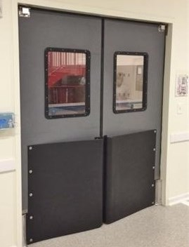 Traffic doors for supermarkets impact swing door with bumpers ruff tuff door for supermarket - Commercial double swing doors ...