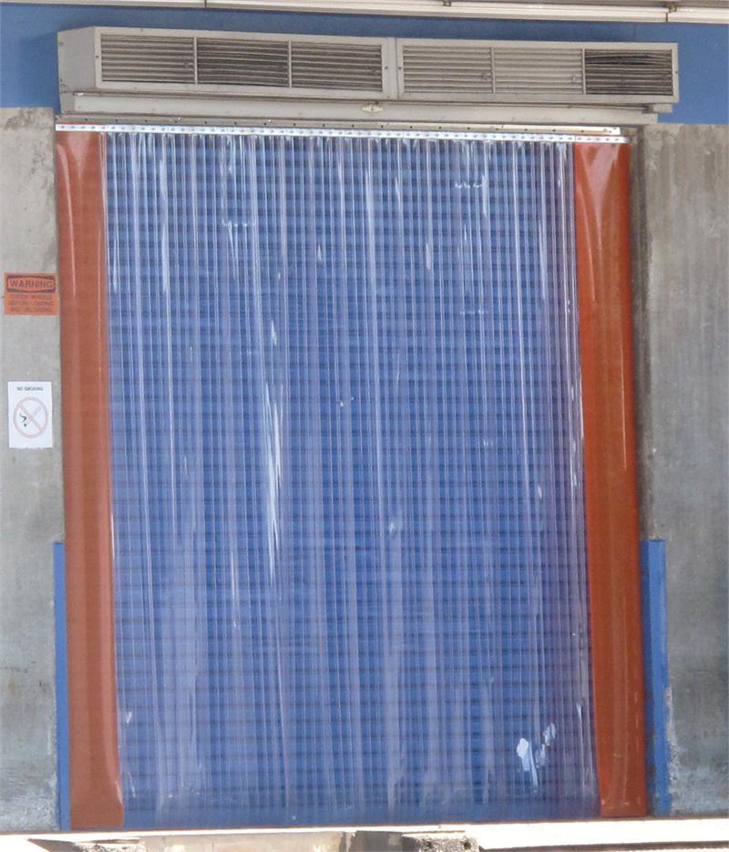 warehouse door strip curtain enclosure with plastic