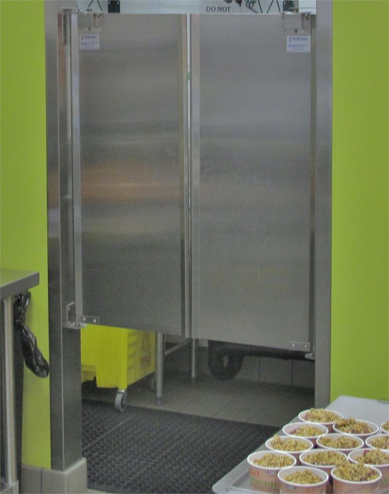 Stainless steel doors in stock cafe swing