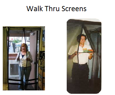 Walk thru screen doors easy screen.