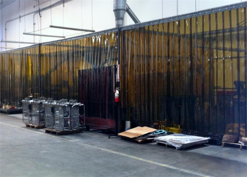 Strip Curtains for Welding Spark Protection - Bronze PVC Strips ...