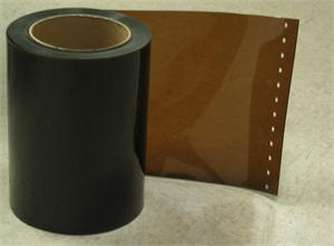 Shaded gold pvc strip curtain rolls for weld spark protection and shading sunlight.
