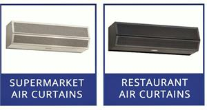 Air Curtains For Supermarkets, Fly Fans For Restaurants On Sale!