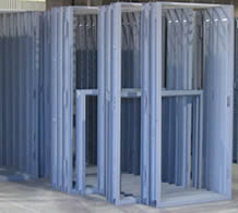 Door frames for traffic door installation.