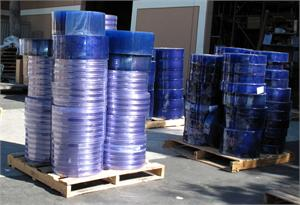 PVC Strip Curtain Rolls, Ribbed Strip Curtain Rolls On Sale!