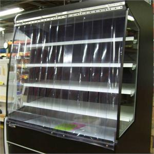 Plastic Door Strips >> We Make Refrigerated Case Cover Strips.