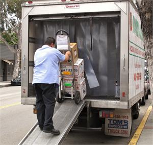 Truck strip curtain doors for refrigerated delivery trucks, PVC strip curtains keep foods colder!