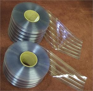 Ribbed pvc strip curtain rolls with 2 sizes available, Ribbed Plastic Rolls are in stock.