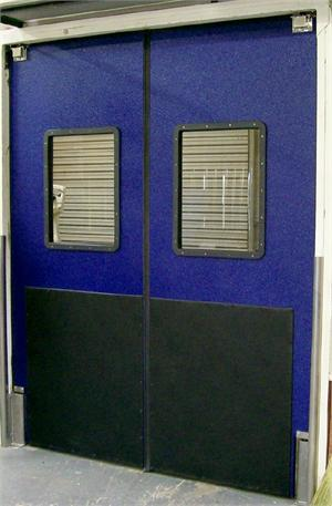 Ruff Tuff series traffic door with impact plates, Impact Traffic Doors On Sale.
