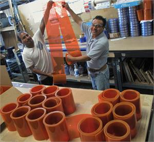 Orange pvc rolls orange strip curtain rolls On Sale.