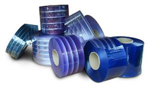 PVC Strip Curtain Rolls, Ribbed strip curtain rolls in los angeles.