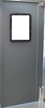 Pro tuff doors for restaurant kitchen door. Grey Restaurant traffic doors and more.