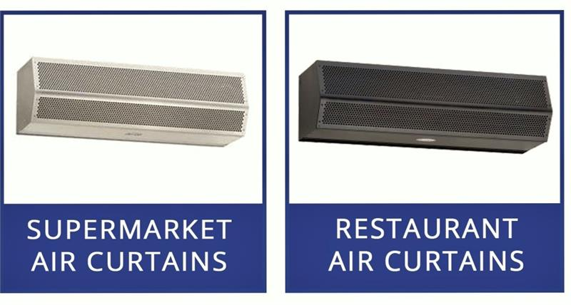 Mars Air Curtains All Sizes Fly Fans For Grocery Store Doors