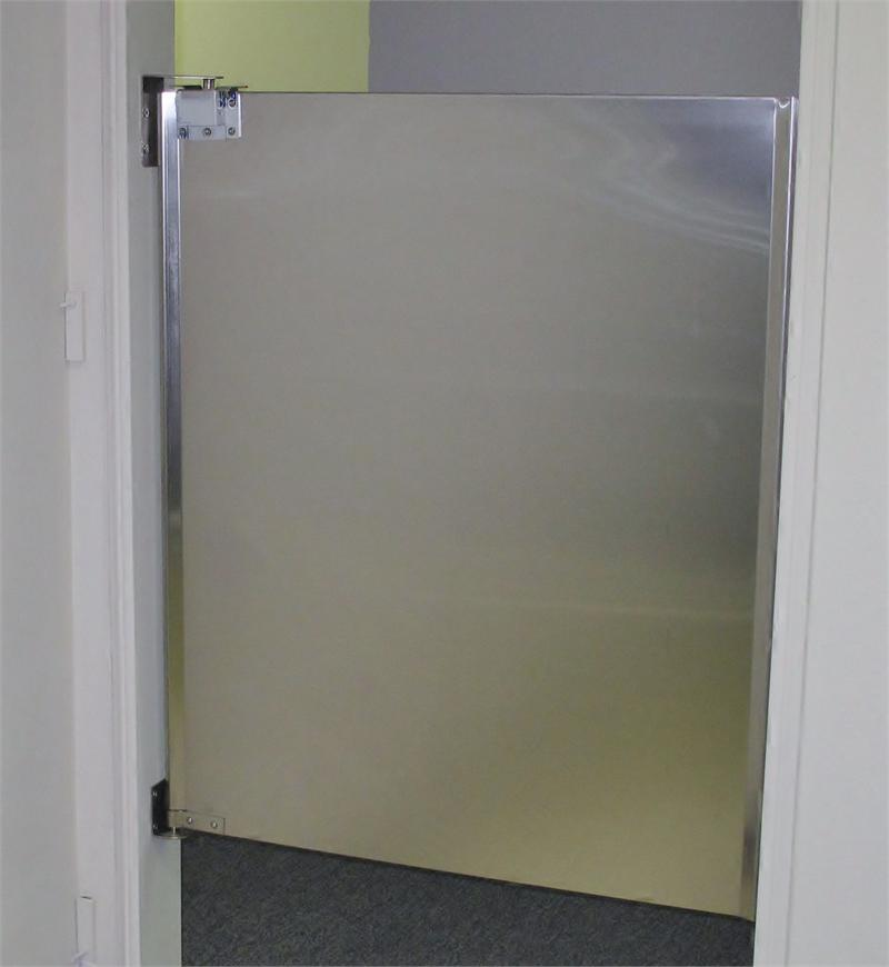 Merveilleux Single Panel Stainless Steel Half Size Door.