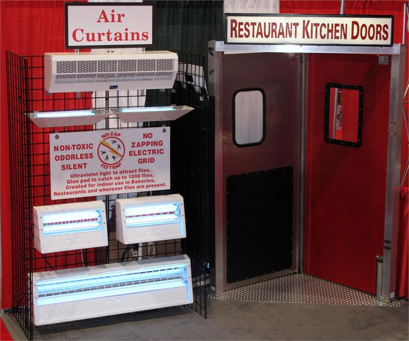 Restaurant Kitchen Doors Air Curtain Fly Fans No Zap Fly