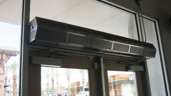 Warm Heated Air Curtains Heated Air Door Fly Fans Air