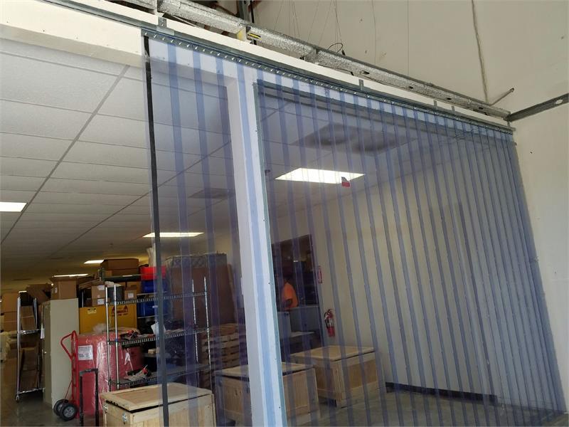 Strip Curtain Slide Open Roller Track For Sliding Strip