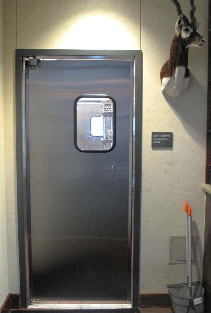 Restaurant Doors Double Swinging Stainless Steel Door In