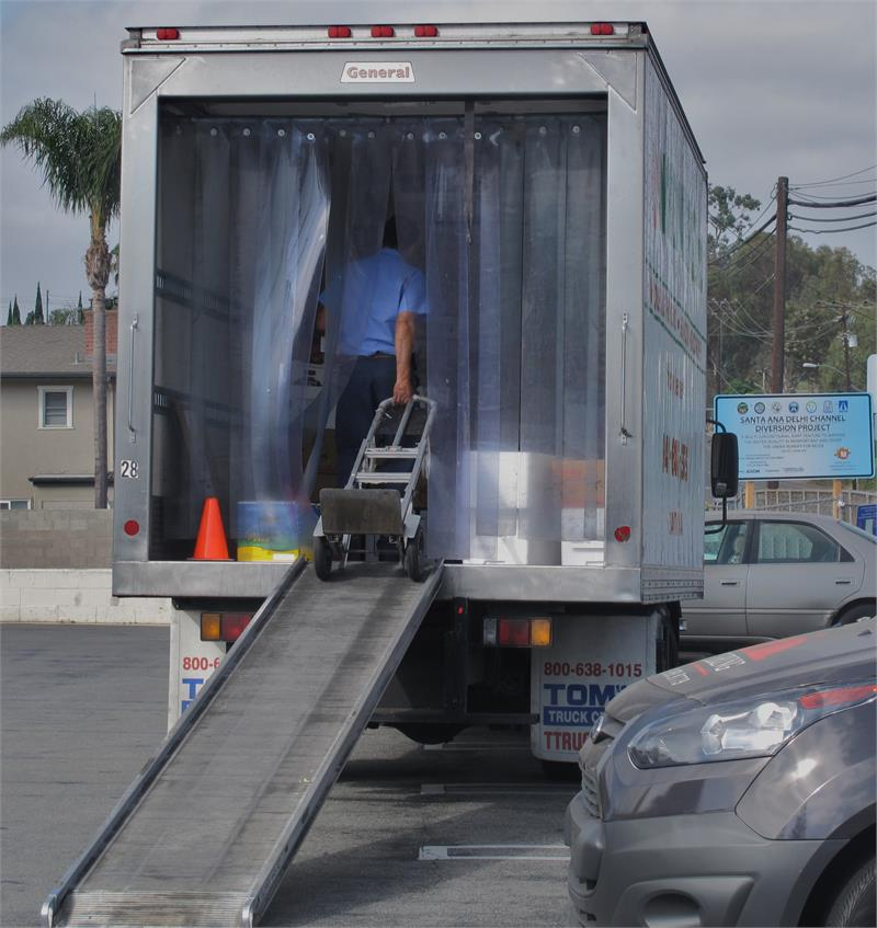 Easy To Walk Thru 8\  Wide Strips. & Plastic Strip Curtains For Trucks - Traffic Doors and More For Truck ...
