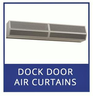Air Curtain Fly Fans For Dock Doors. High Power Air Curtains For Doors. Traffic Doors and More For Large Air Curtains.