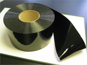 Black PVC rolls for black plastic strip curtain rolls in stock.