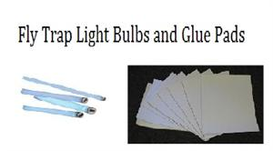 Fly Trap Sticky Papers and replacement fly light bulbs for commercial fly traps On Sale.
