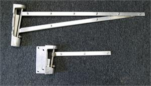 Hinge for clear vu door. Replacement swing door hinges for Gorilla Doors and Clear Vu doors.