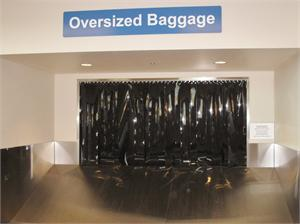 Black PVC strips for airport luggage belts and black pvc strips for baggage belts.