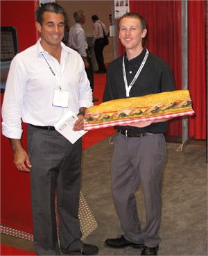 Fake sub sandwich for restaurant catering display. Large 36