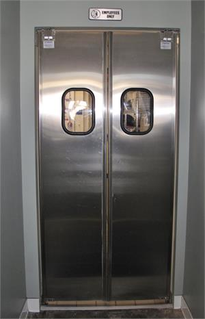 Restaurant Kitchen Doors. Stainless Steel Double Swing Door For Restaurants On Sale.
