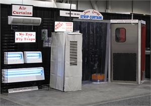 Various Products On Display at The Cater Source Show with Traffic Doors and More.