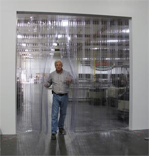 Ribbed pvc strip curtains for dock doors. Plastic Strip curtains On Sale.