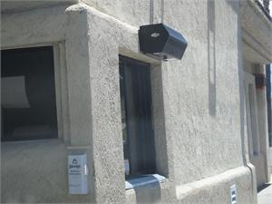 Fly Fan For Drive Thru Window. Air Curtain Fly Fans For Restaurant Drive Up Windows.