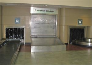 Our Black PVC Strips At The Airport. lack Plastic strip curtain rolls in stock.