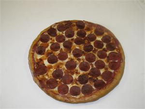 Large replica pizza for display- Fake pepperoni pizza for sale.