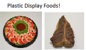 Plastic Foods For Display, Replica Food at Fake Foods and More.