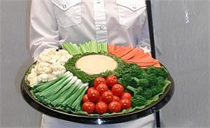 Replica Vegetable Tray, Fake Party Tray Foods For Display.