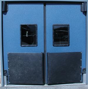vcam door for forklift door traffic. Ruff Tuff V-cam Heavy Duty Impact Doors.
