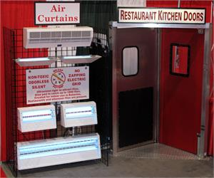 Restaurant kitchen doors in stock, Swinging Traffic Doors for Restaurants, commercial fly traps, no zap fly traps in stock.