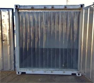 Plastic strips for containers, PVC strip curtains for container doors with all size strip door openings.